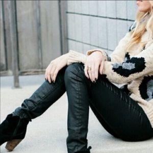 MADEWELL COATED BLACK SKINNY 9 Inch Pants